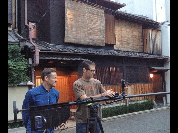 HGTV filiming The Gion House for the USA TV show
